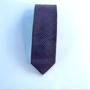 Valentino cravatte silk made in Italy brown tie